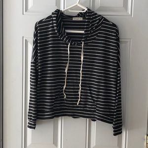 Ginger G Striped Hoodie Size M